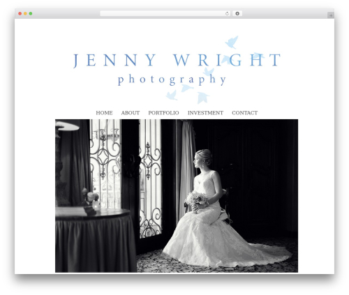 ProPhoto WordPress blog theme - jennywrightphotography.com