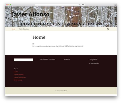 Twenty Thirteen WordPress theme download - javier-alfonso.com