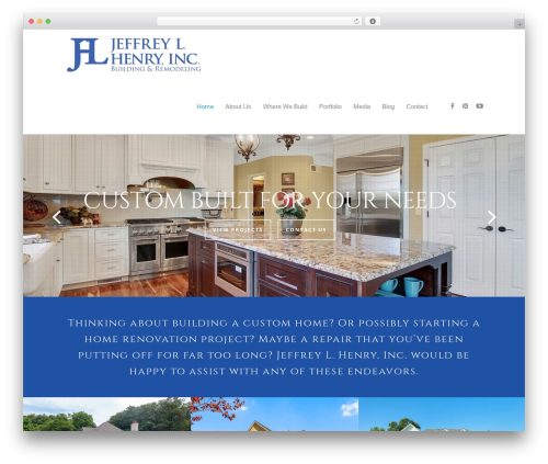 WordPress theme Salient - jeffreylhenryinc.com