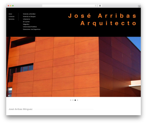 Architecture WP theme - josearribas.com
