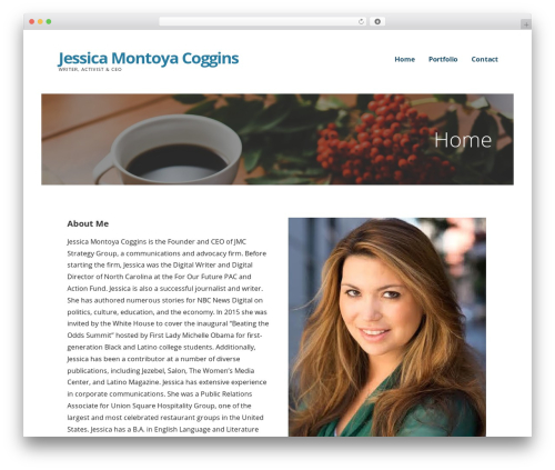 Ascension WordPress theme - jessicamontoyacoggins.com