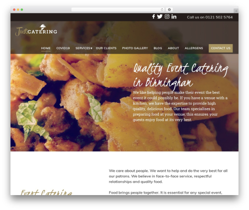 Catering best wedding WordPress theme - justcatering.info