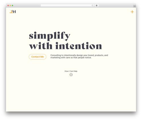 Divi theme WordPress - joelmharrison.com