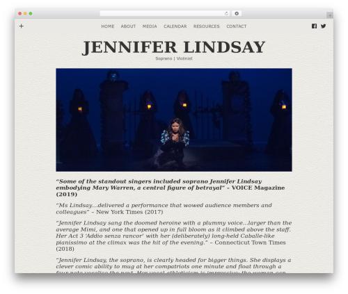 Encore WordPress theme - jenniferlindsaymusic.com