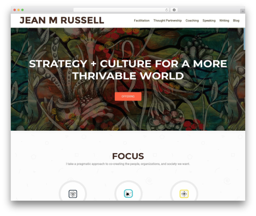 OnePirate free website theme - jeanmrussell.com