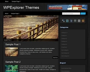 Theme WordPress Modern Wood