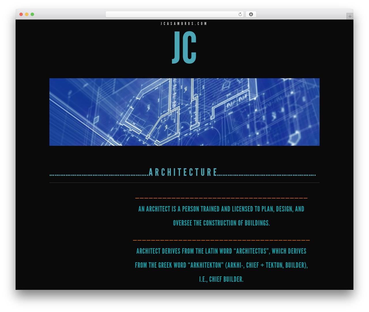 Trvl WordPress theme - jcasambros.com