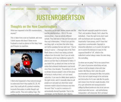 Vivex WordPress template - justenrobertson.com