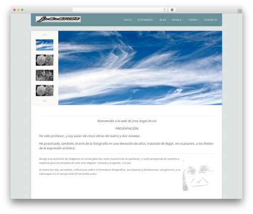 WordPress template Acoustic - joseangelarcos.com