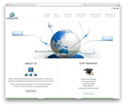 WordPress template Arkitekt - jonrosegroup.com