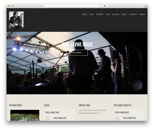 WordPress theme Berliner - johndevinemusic.com
