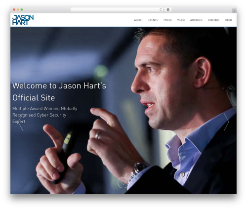 AccessPress Parallax template WordPress free - jasonhart.co.uk