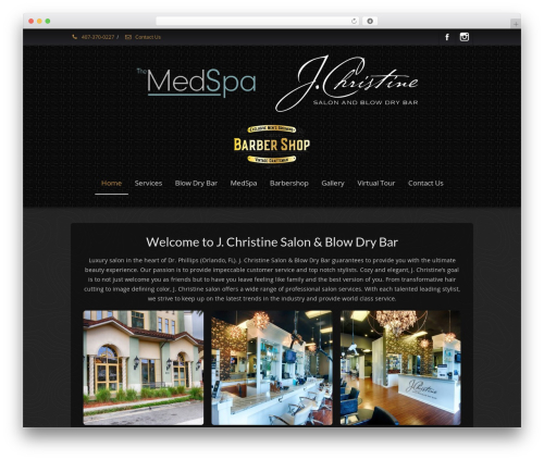Best WordPress template Envision - jchristinesalon.com