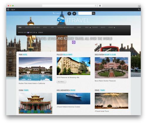 Best WordPress theme Travel Extend - jtravel.com