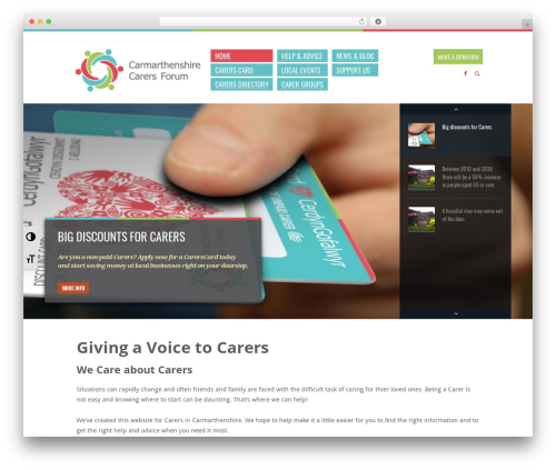 Biosphere WordPress page template - ccf.wales