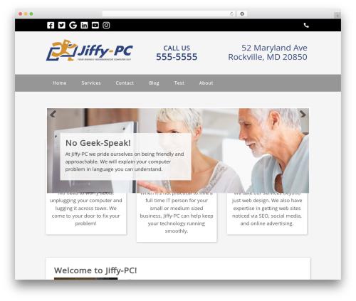 WordPress ultimate-branding plugin - jiffy-pc.com