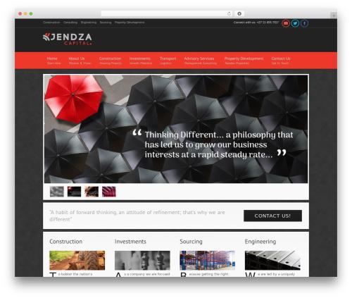Modular theme WordPress - jendza.co.za