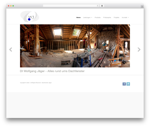 Template WordPress Organic Response Theme - jaeger-dachfenster.at
