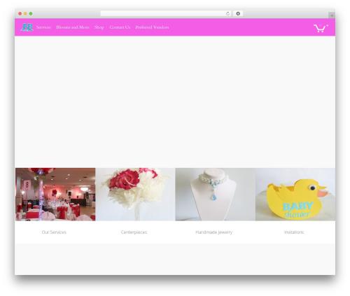 TESSERACT best wedding WordPress theme - jewelsandblooms.com