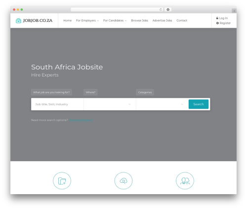 WordPress theme WorkScout - jobjob.co.za