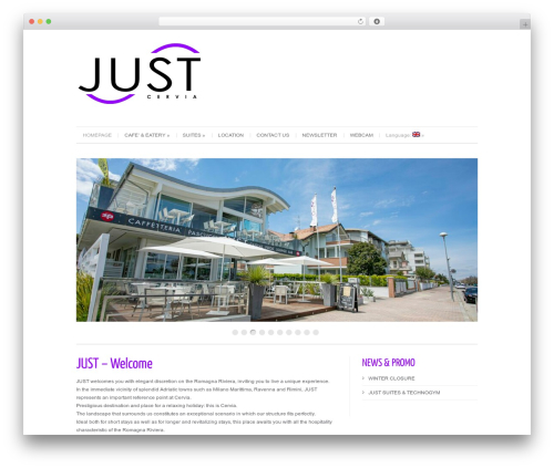 WordPress website template Cleanex - justcervia.it