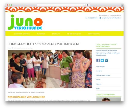 WordPress website template Felicity Pro - juno-verloskunde.nl/juno-project-voor-verloskundigen