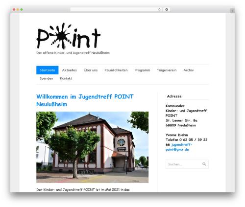 zeeFlow WP theme - jugendtreff-point-neulussheim.de