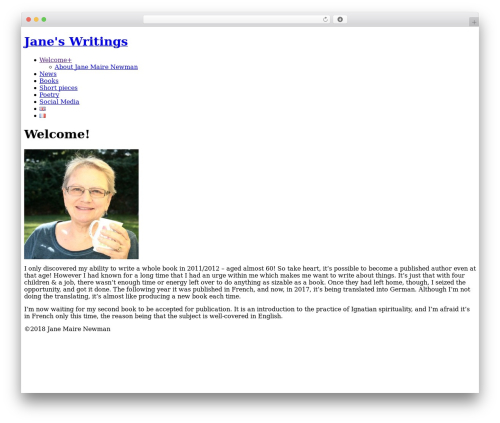 Best WordPress template Photocrati Theme - janeswritings.jjspace.ch/?page_id=89