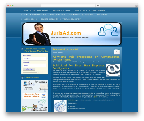 Blue Server WordPress theme - jurisad.com