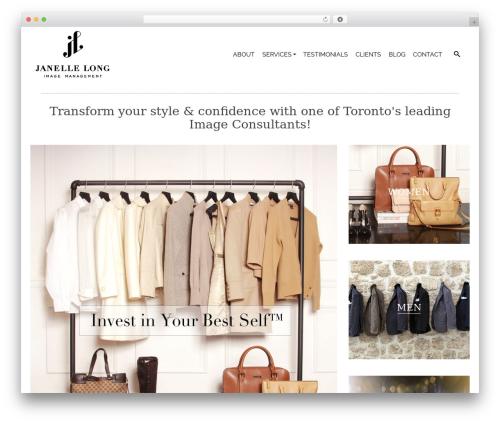Pinnacle Premium top WordPress theme - janellelong.com