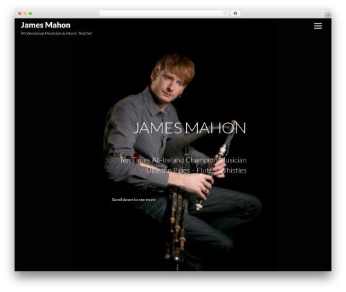 Themify Music template WordPress - jamesmahonmusic.com