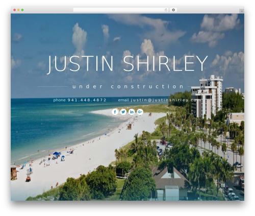 Twenty Seventeen template WordPress free - justinshirley.com