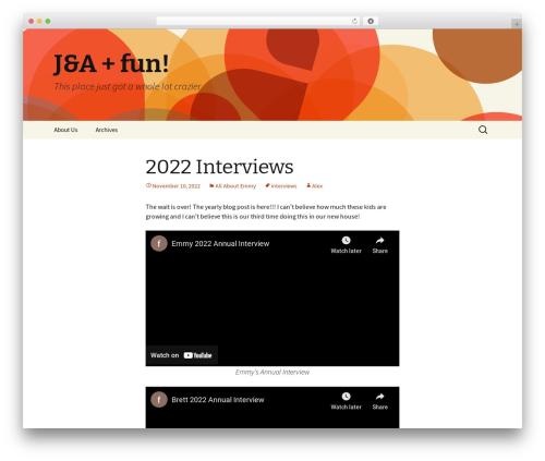 Twenty Thirteen WordPress theme free download - juliaandalex.com/blog