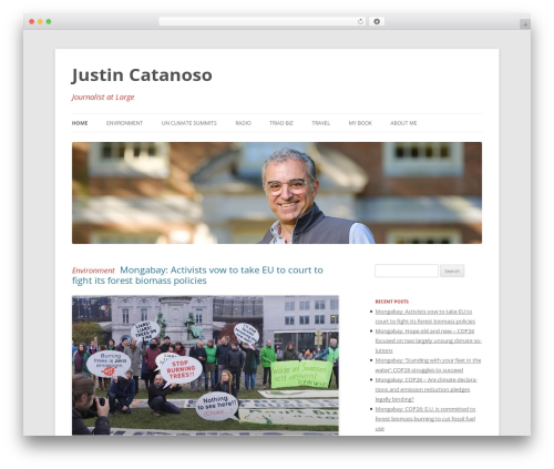 Twenty Twelve WordPress website template - justincatanoso.com