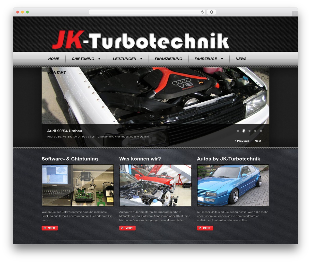WordPress website template JK-Turbotechnik - jk-turbotechnik.at
