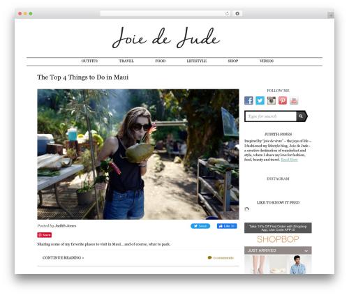 Writer Child WordPress theme - joiedejude.com