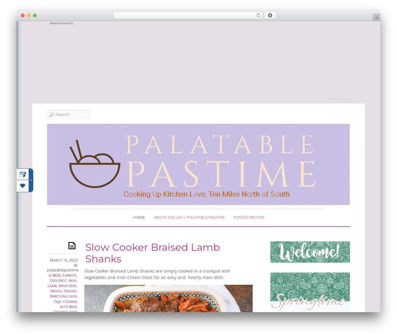 Elemin WordPress theme - palatablepastime.com