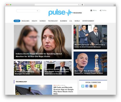 WordPress magazine3-widgets plugin - pulseheadlines.com