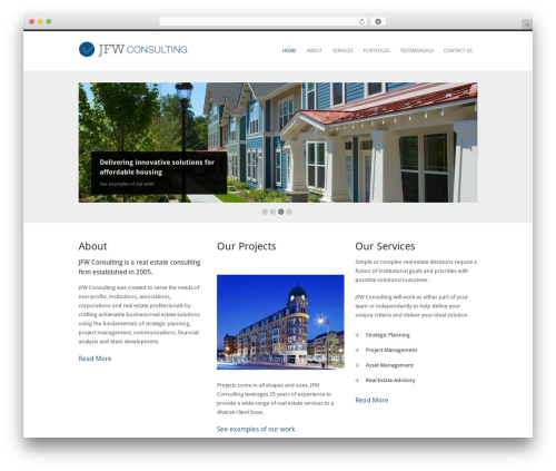 Performs real estate template WordPress - jfwconsulting.com