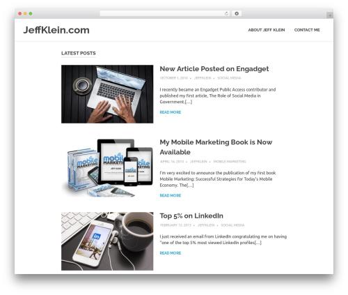 Poseidon template WordPress free - jeffklein.com