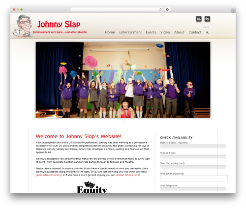 Prestige Ultimate Wordpress Theme WP template - johnnyslap.co.uk