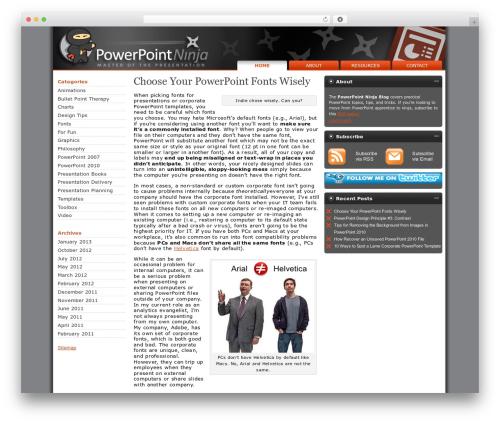 Stardust business WordPress theme - powerpointninja.com