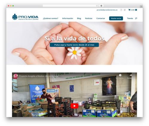 The7 premium WordPress theme - providamairena.es