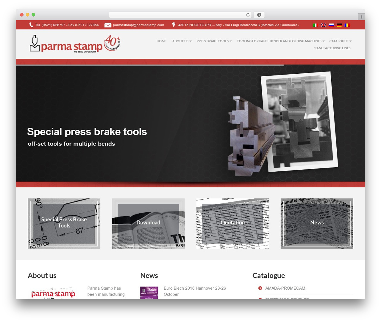 WordPress theme PressCore - parmastamp.eu