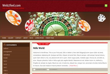 Best WordPress template Casinorat