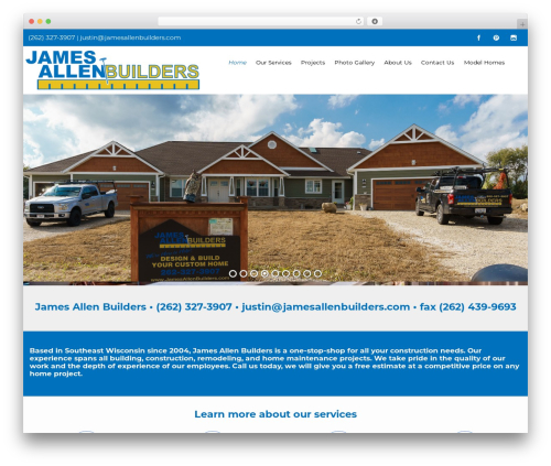 Flat Responsive Child top WordPress theme - jamesallenbuilders.com