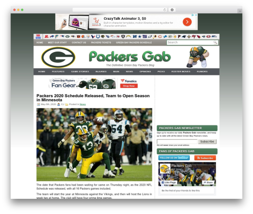 iMobile theme WordPress - packersgab.com