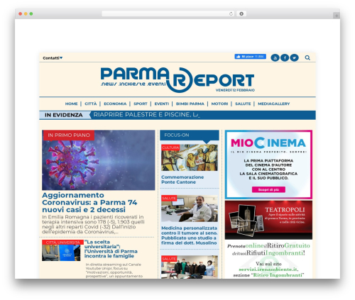 iPress best WordPress template - parmareport.it