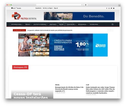 Newspaper WordPress news template - politicadistrital.com.br