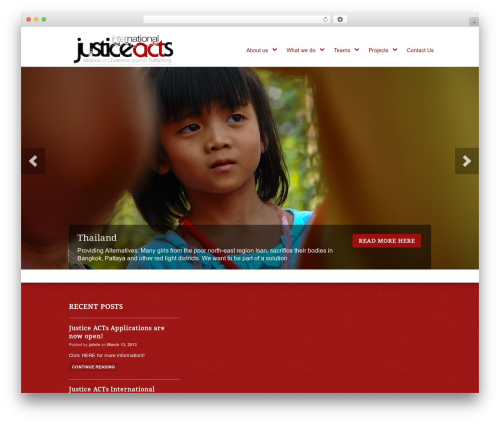 Peacemaker WordPress theme - jainternational.org